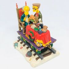 """A Feast For One� The Simpsons Christmas Express Hamilton Collection 2003"