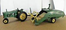 Vintage John Deere Tractor and 12A  Canvas Combine- 1940's/50's-