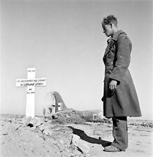 WWII Photo English Pilot Grave Western Desert 1941 WW2 B&W World War Two / 2185