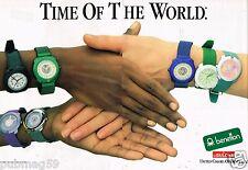 Publicité Advertising 1988 (2 pages) Les Montres Benetton by Bulova