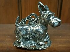 Silverplated Figural Table Decorations with a cute Scottie on it....too cute