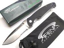 SRM9012 Pocket Knife 12C27 Sandvik Ball Bearing Reversible Clip Safety Lock EDC