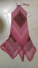 bcbgmaxazria silk pink handkerchief dress xs