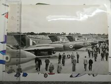 Large vintage press photograph Gloster Javelin line up, 1954