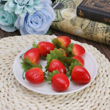 New Fake Strawberry Artificial Fruit Model House Kitchen Party Decorative 10pcs