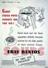 Metal Sign Punch 1948 Oxo Ltd Fray Bentos Soups A3 16x12 Aluminium