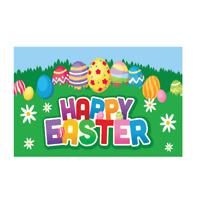 Easter Flag. Happy Easter Celebration Festival Flag 5ft x 3ft. Easter Eggs Flag