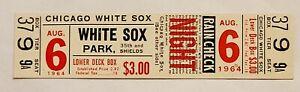 1964 AUGUST 6 WHITE SOX VS DETROIT TIGERS FULL TICKET AL KALINE CAREER HR #226