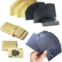 Golden/ Black Matte Plastic Poker Cards Waterproof Table Games Playing Cards