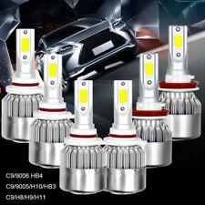 H11 9005 9006 6 Bulbs Kit LED Combo Set Headlight Fog High Low Beam 6000K White