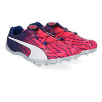 Puma Mens EvoSPEED Disc 3 Running Spikes Traction Purple Red Sports Breathable