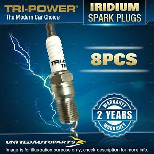 8 Tri-Power Iridium Spark Plugs for Land Rover Discovery 3 Range Rover HSE S SE
