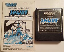 Smurf rescue in gargamel's castle whit instruction coleco 1982