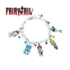 Anime Fairy Tail (5 Themed Charms) Assorted Metal Charm Bracelet
