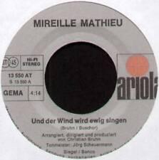 """MIREILLE MATHIEU ~ UND DER WIND WIRD EWIG SINGEN ~ 1974 GERMAN 7"""" SINGLE"""