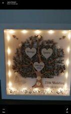 Personalised 25th wedding anniversary light up box frame
