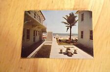 Neptune Apartments Hollywood Beach, Rppc. Postcard/business card c.1940s 3.5x2.5