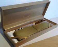 Maranda-ti Gold Swarovski Crystal Black Ink Ball Pen Gift for a Man or Woman