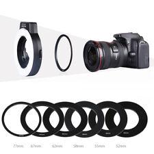 K&F Concept KF-150 E-TTL Macro Ring Speedlite Flash for Canon w/ 6 Adapter Rings