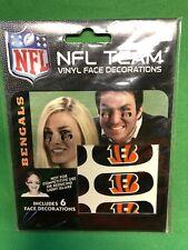 M432 NFL Cincinnati Bengals Vinyl Face Decorations Eye Black Stickers NWT