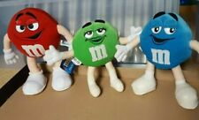 More details for m&m's chocolate plush set x 3 mars 2001 branding advert  collectible vintage