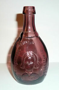 Vintage Wheaton NJ Amethyst Glass Jenny Lind Swedish Nightingale Bottle
