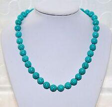Markenlose Modeschmuck-Halsketten & -Anhänger aus Perlen mit Türkis für Damen