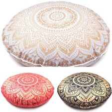 Floor Cushion Cover Mandala Throw Pillow Indian Bohemian Round Pillow Case Sofa
