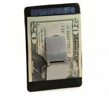 Genuine Leather Slim Front pocket Money Clip Wallet with RFB lining