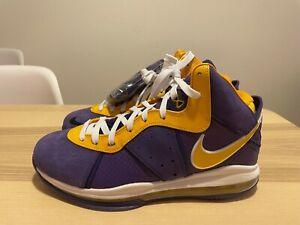 NEW Size 9.5 - Nike Lebron 8 Lakers Purple VIII QS Basketball shoes DC8380 500