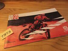 Husqvarna Supermotero cross enduro 2008 póster motorrad catálogo prospekt pub