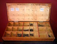 Vintage 1960s Terminal Tackle Store Display Fish Hook/Swivels Box w/Product