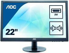 AOC E2260SWDA (21,5 Zoll) TN  Monitor (VGA, DVI) Full-HD, 5 ms Reaktionszeit