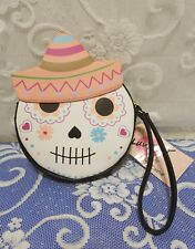 Betsey Johnson Luv Betsey Sugar Skull Day of the Dead Wristlet Coin Purse NWTs