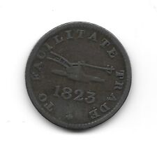 1823 - Upper Canada Token UC12A1 Medal axis