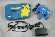 Nintendo 64 Console Pikachu Light Blue Limited Edition Japan N64 system US Selle