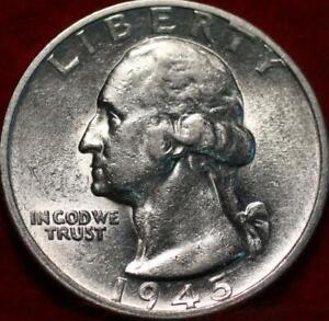Uncirculated 1945-S San Francisco Mint Silver Washington Quarter