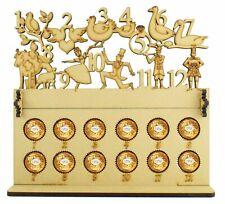 Ferrero Rocher & Lindt Chocolate Balls 12 Days of Christmas Wood Advent Calendar