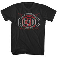 ACDC Live in Boston 1978 Men's T-Shirt Paradise Theatre Live Concert Tee Young