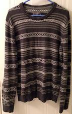 AEROPOSTALE Grey striped Sweater Large