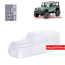 PVC Transparent Climbing Car Body Shell For 1:10 Scale RC Crawler Car D90 Jeep