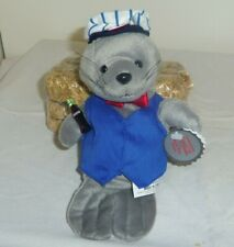 Gray Seal in Delivery Outfit 6in with miniature Coke bottle 1999 5 up 0170