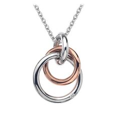 Hot Diamonds Eternity Silver & Rose Gold Plated Captured Circles Pendant DP373