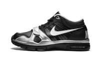Size 10 Nike MEN Trainer 1.2 Mid SHOES 407766 011 BLACK SILVER
