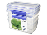 Sistema KLIP IT Rectangular Collection Food Storage Container, 33.8 oz./1.0 L, 3