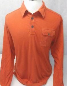 John Bartlett Consensus Orange Soft Cotton L/S Sportsman Outdoors Shirt Mens L