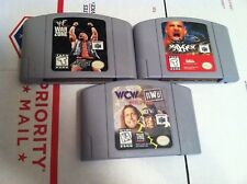 3 Nintendo 64 games n64 WF War Zone + MAYHEM + WCW VS nWo wrestling games L@@K