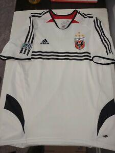 Retro 2004 Rare DC United MLS Soccer White Adidas Climacool Jersey SZ M