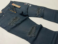Levi's Levis 541 Athletic Taper Military Army Distressed Ripped Shredded Jeans