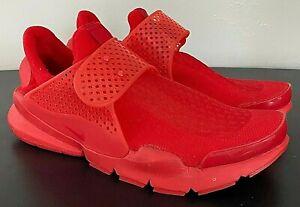Nike Sock Dart Triple Red 819686-600 - Men's 8 - New